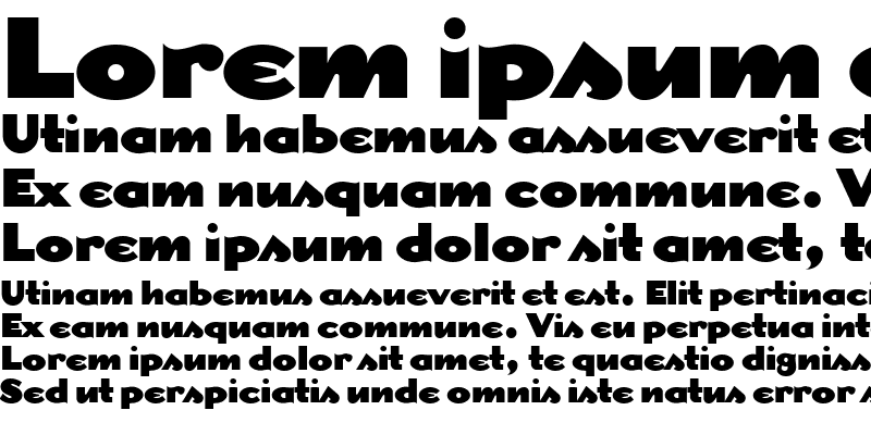 Sample of DogmaBlack Regular