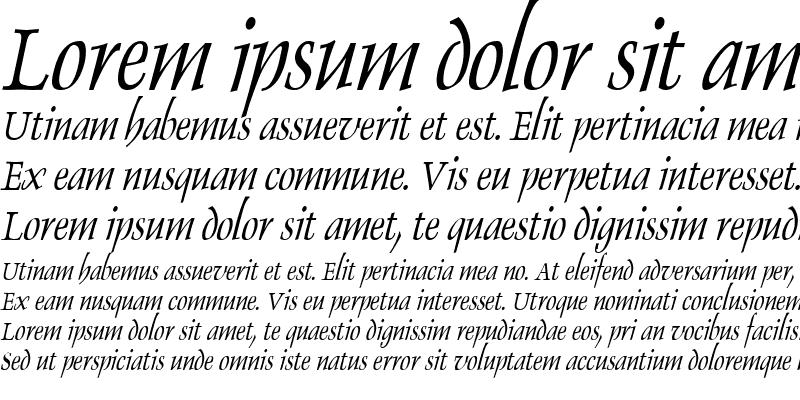 Sample of Dolphin Condensed Italic