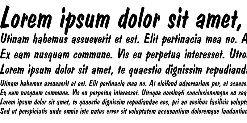 Sample of Dom Casual D Regular Italic