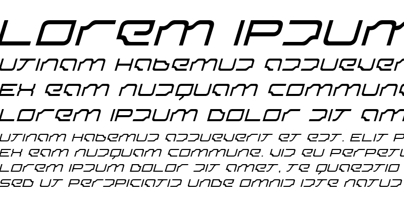 Sample of Dominator ThinItalic