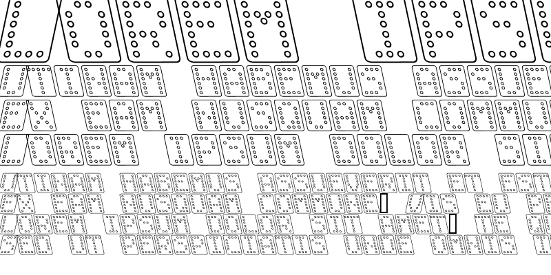 Sample of Domino bred kursiv omrids Regular
