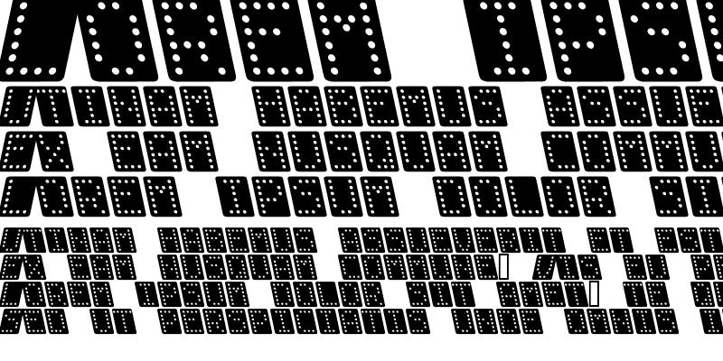 Sample of Domino bred kursiv Regular