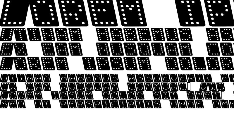 Sample of Domino square kursiv Regular