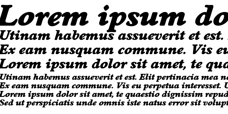 Sample of DonBecker-Heavy Italic