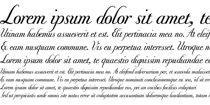 Sample of Donna Bodoni Be Script Regular