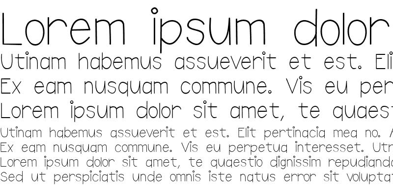 Sample of Doodle Print Regular
