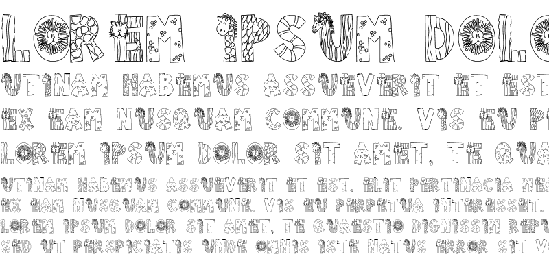 Sample of Doodle Zoo