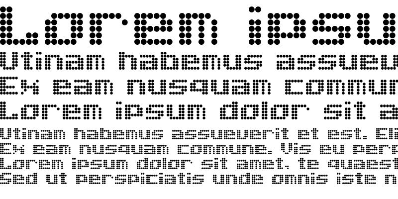 Sample of Dot Font