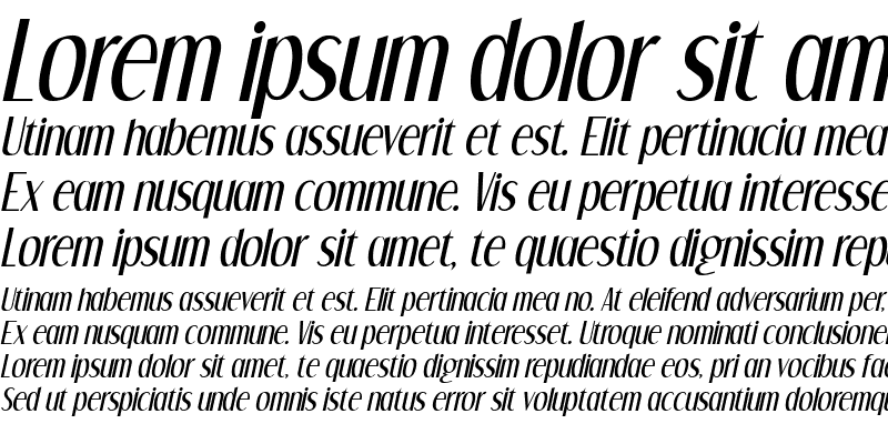 Sample of Dream Orphans Italic