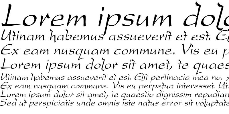 Sample of DreamerOne Italic
