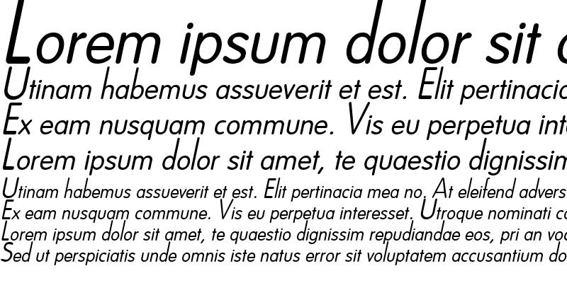 Sample of Dreamspeak Italic