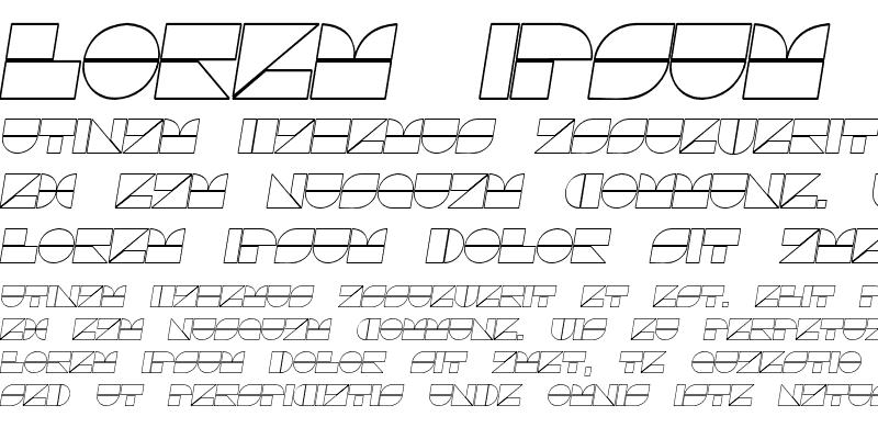 Sample of Drebiek Expanded Outline Italic