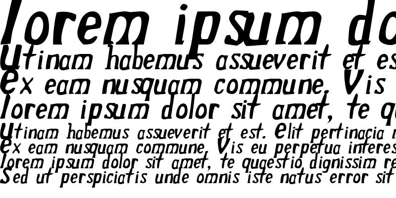 Sample of Drek NormalItalic