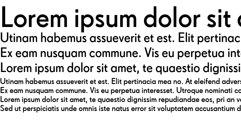 Sample of Drescher Grotesk BT SemiBold Regular