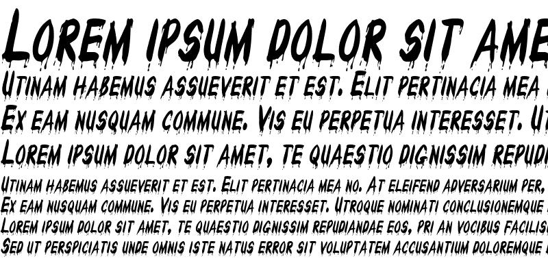 Sample of Drips-Condensed Italic