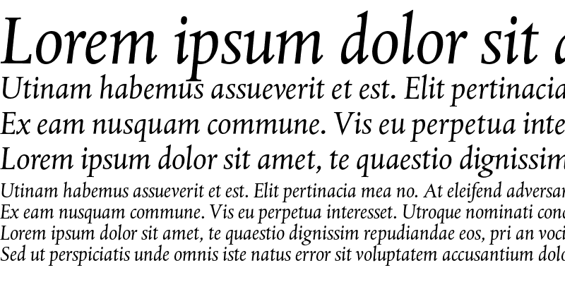 Sample of DTL Albertina ST Italic