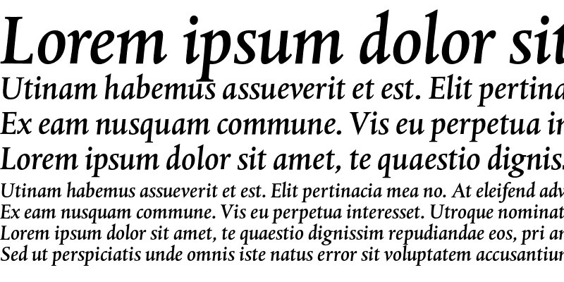 Sample of DTL Albertina ST Medium Italic