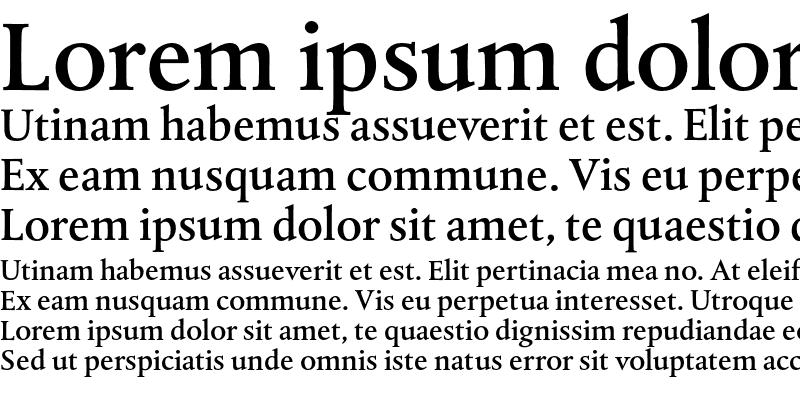 Sample of DTL Albertina ST Medium