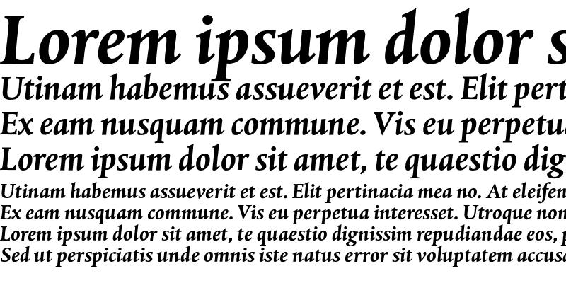 Sample of DTL Albertina T Bold Italic
