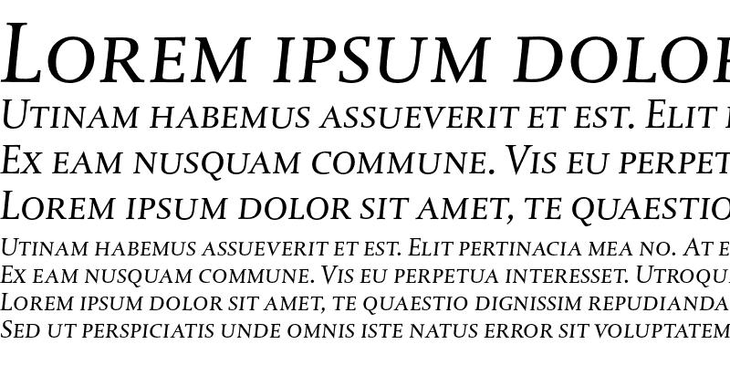 Sample of DTL Albertina T Caps Italic