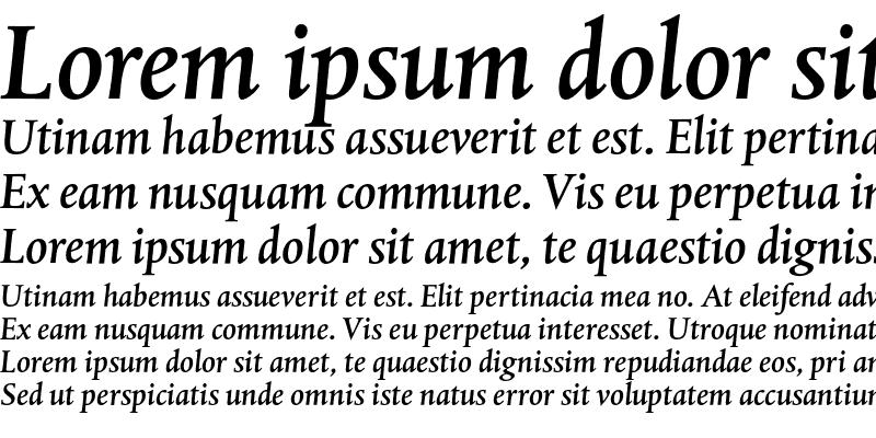 Sample of DTL Albertina T Medium Italic