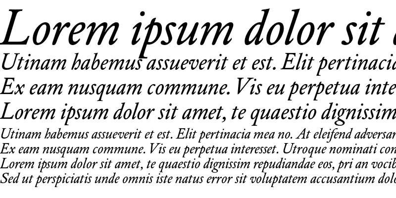 Sample of DTL Elzevir T Book Italic