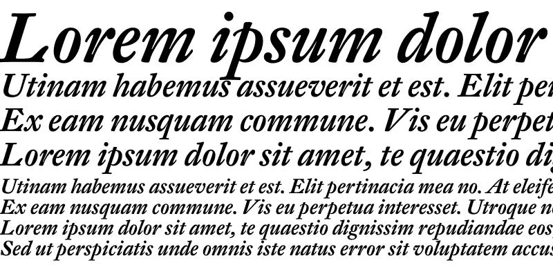 Sample of DTL Fleischmann T Medium Italic
