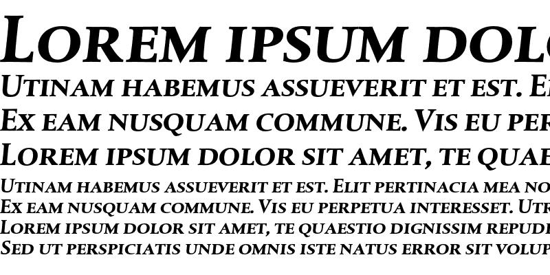 Sample of DTLAlbertinaTCaps Bold Italic