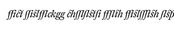 Preview of DTLFleischmannTAlternate Italic