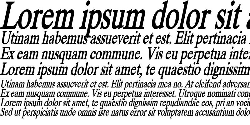 Sample of Duke Condensed Bold Italic