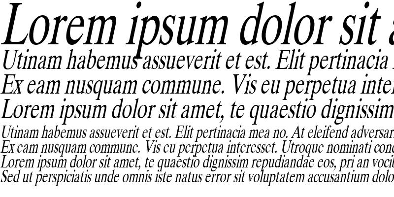 Sample of Duke Condensed Italic