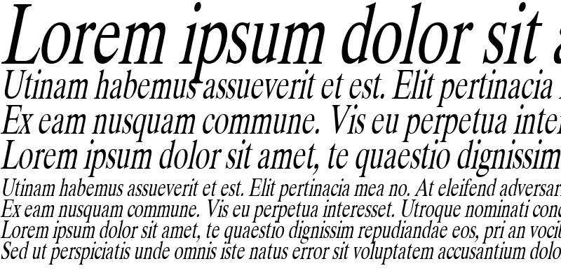 Sample of DukeCondensed Italic