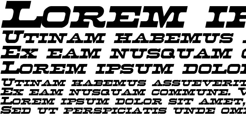 Sample of Duncan Italic