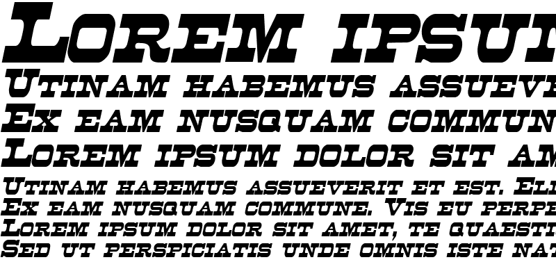 Sample of DuncanCondensed Italic