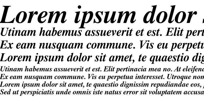 Sample of Dutch 801 Bold Italic