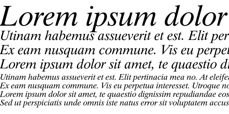 Sample of Dutch 801 Italic