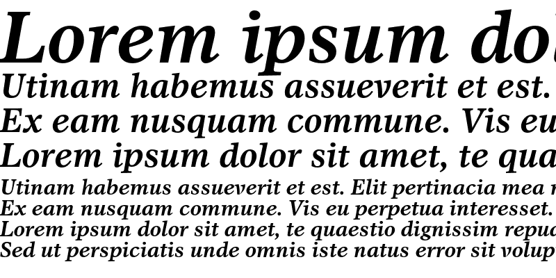 Sample of Dutch 811 Bold Italic