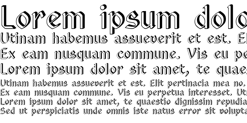 Sample of Eastgothic