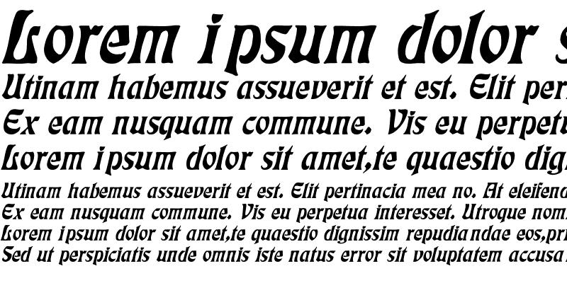 Sample of Eckmann Italic