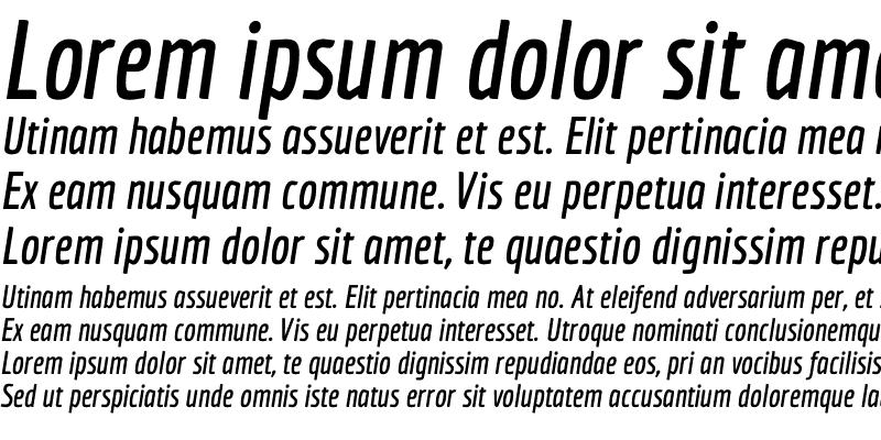 Sample of Economica Bold Italic