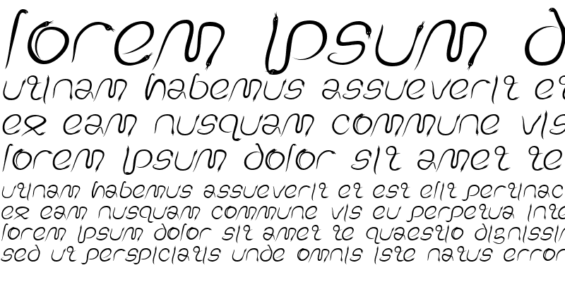 Sample of EdenDisplay Italic