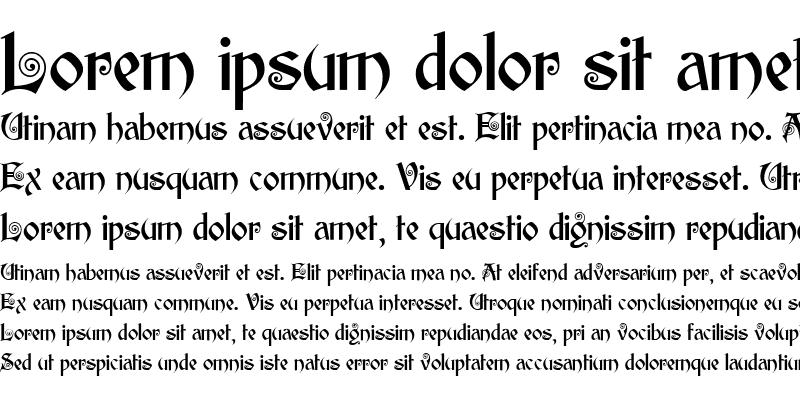 Sample of Edisson Regular