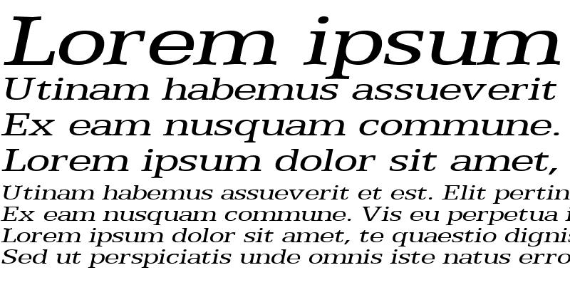Sample of Eggo Extended Italic