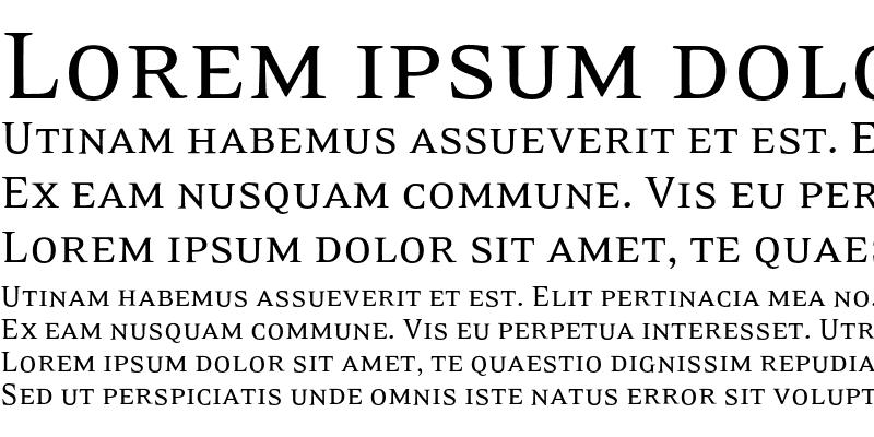 Sample of EideticSerif SmallCaps Regular