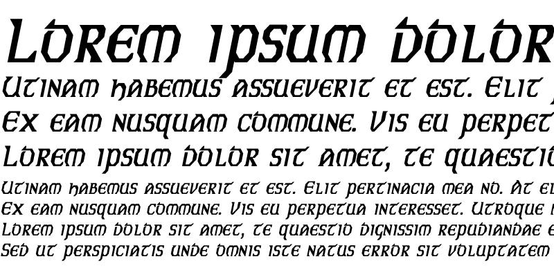 Sample of Eire Cn BI