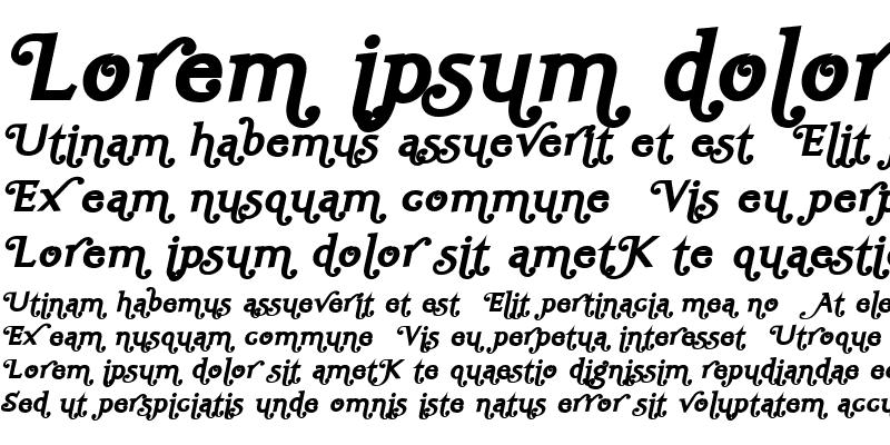 Sample of Ela Swashes XeBold Italic