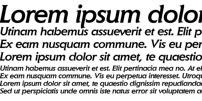 Sample of Elan-MediumItalic