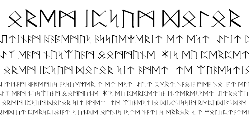 Sample of Elder Futhark ver 1.1 Regular