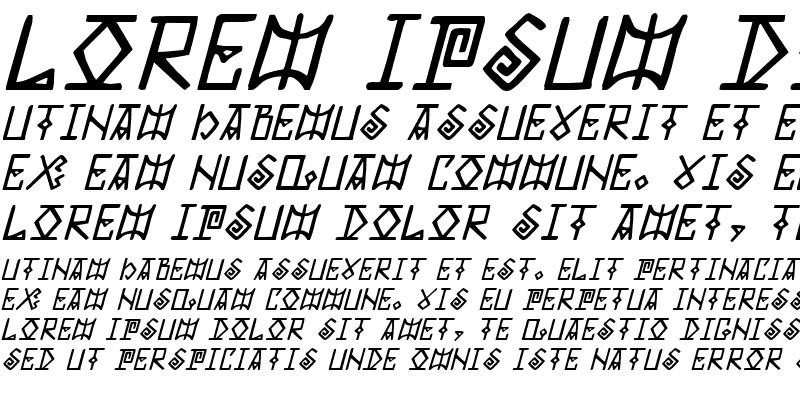 Sample of Elder Magic Italic Italic