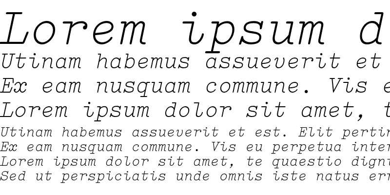 Sample of Elementa Italic